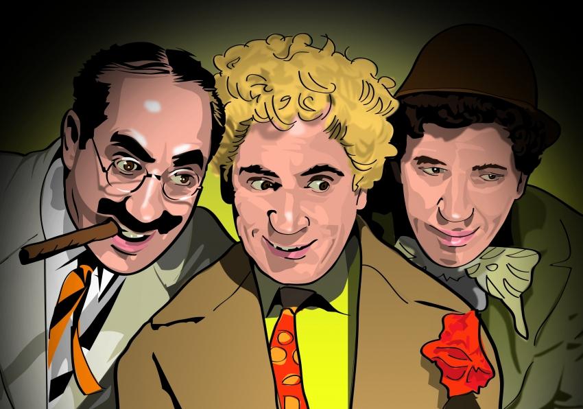 Chico Marx, Harpo Marx, Groucho Marx par Henstepbatbot